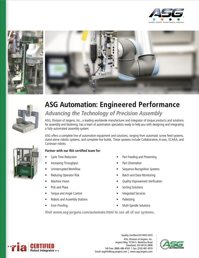 ASG Automation Line Card
