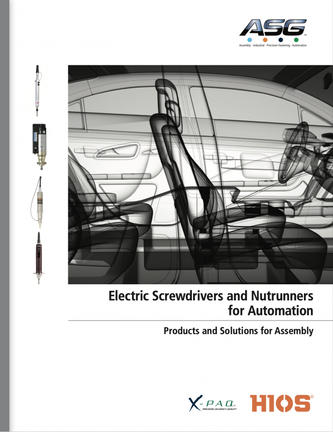Electric Screwdrivers & Nutrunners for Automation Catalog