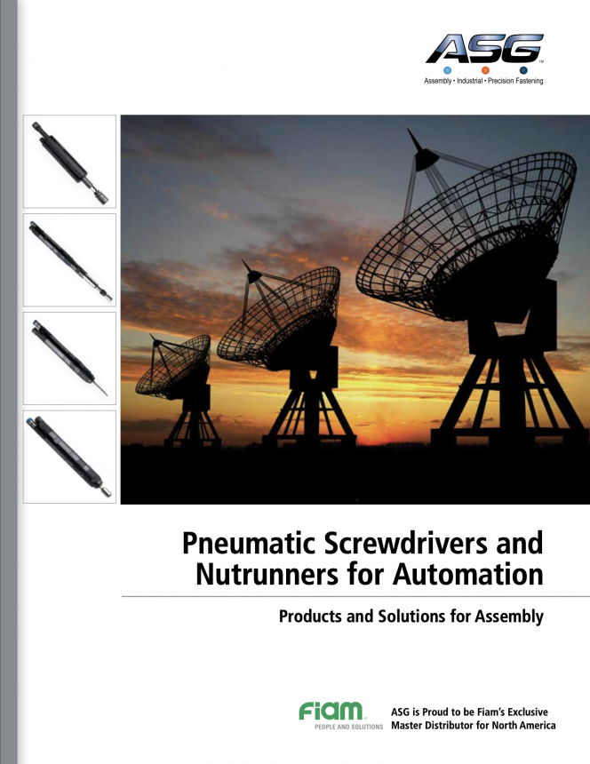 Pneumatic Screwdrivers & Nutrunners for Automation Catalog
